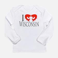 I fish Wisconsin Long Sleeve Infant T-Shirt