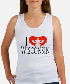 I fish Wisconsin Women's Tank Top