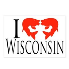 I fish Wisconsin Postcards (Package of 8)