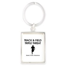 TOP Track and Field Portrait Keychain