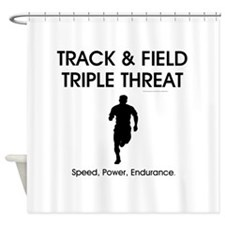 TOP Track and Field Shower Curtain