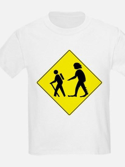Beware of Sasquatch Kids T-Shirt