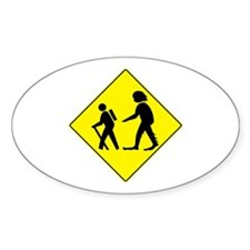 Beware of Sasquatch Oval Decal