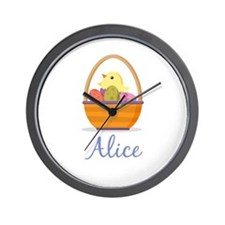 Easter Basket Alice Wall Clock