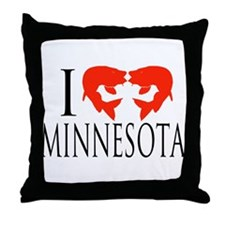 I fish Minnesota Throw Pillow
