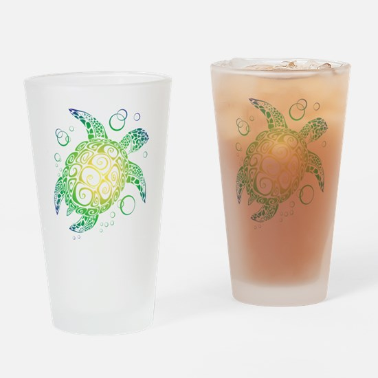 Funny Turtle Drinking Glass