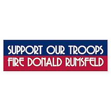 FIRE DONALD RUMSFELD Bumper Bumper Sticker