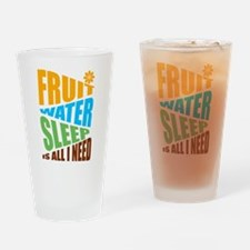 FRUIT.WATER.SLEEP Drinking Glass