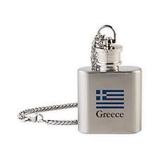 Greece Flag Flask Necklace