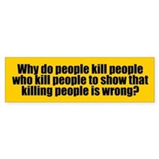 KILLING PEOPLE Bumper Bumper Sticker