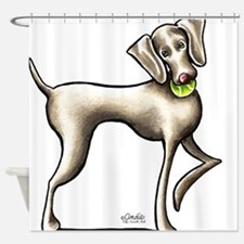 Weimaraner Tennis Shower Curtain