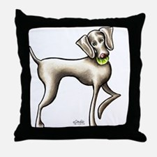 Weimaraner Tennis Throw Pillow