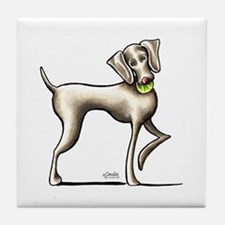 Weimaraner Tennis Tile Coaster