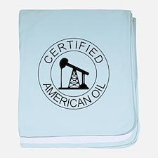 Certified American Oil baby blanket