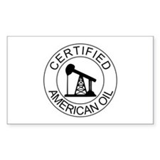 Certified American Oil Decal
