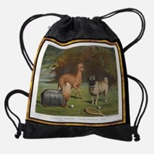 Greyhound antique Drawstring Bag