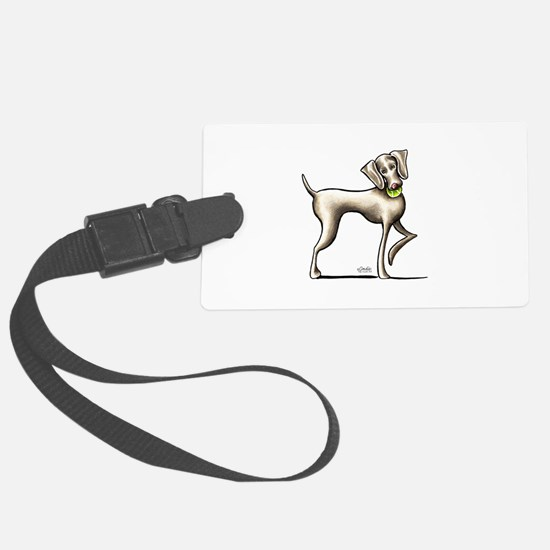 Weimaraner Tennis Luggage Tag
