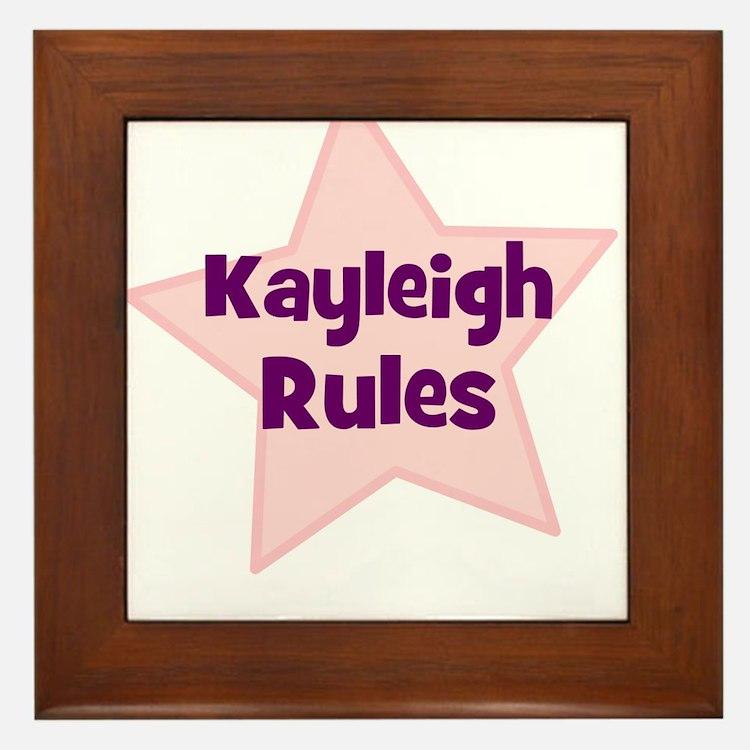 Kayleigh Rules Framed Tile