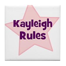 Kayleigh Rules Tile Coaster