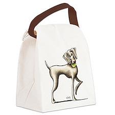 Weimaraner Tennis Canvas Lunch Bag