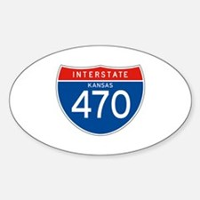 Interstate 470 - KS Oval Decal