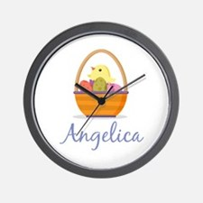 Easter Basket Angelica Wall Clock