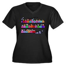 Alphabet Train Plus Size T-Shirt