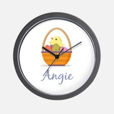Easter Basket Angie Wall Clock