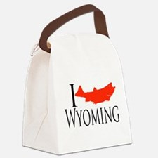 I fish Wyoming Canvas Lunch Bag