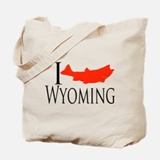 I fish Wyoming Tote Bag