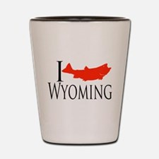 I fish Wyoming Shot Glass