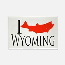 I fish Wyoming Rectangle Magnet