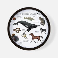 Massachusetts State Animals Wall Clock