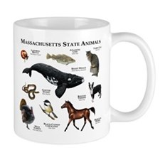 Massachusetts State Animals Mug