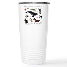 Massachusetts State Animals Travel Mug