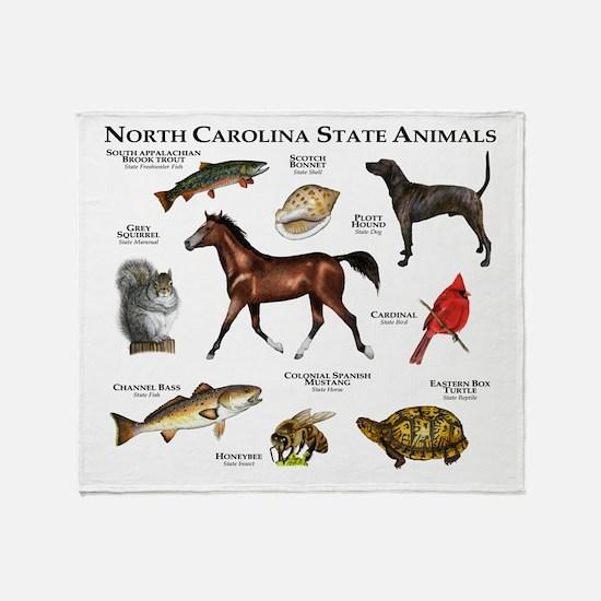 North Carolina State Animals Throw Blanket