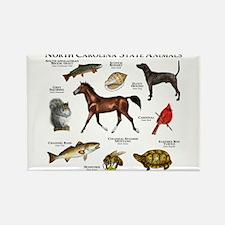 North Carolina State Animals Rectangle Magnet