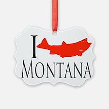 I fish Montana Ornament