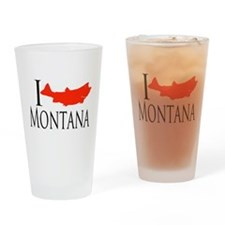 I fish Montana Drinking Glass