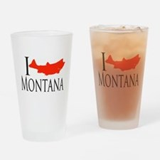 I fish Montana Drinking Glass