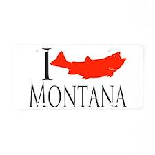 I fish Montana Aluminum License Plate