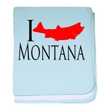 I fish Montana baby blanket