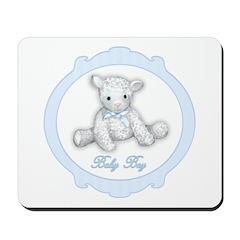 Baby Boy Lamb Mousepad