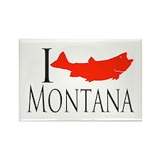 I fish Montana Rectangle Magnet