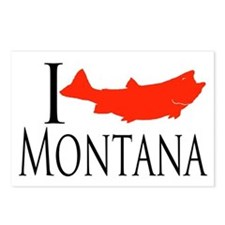 I fish Montana Postcards (Package of 8)