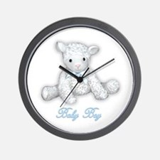 Baby Boy Lamb Wall Clock