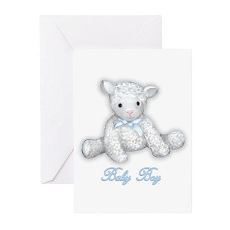 Baby Boy Lamb Greeting Cards (Pk of 10)