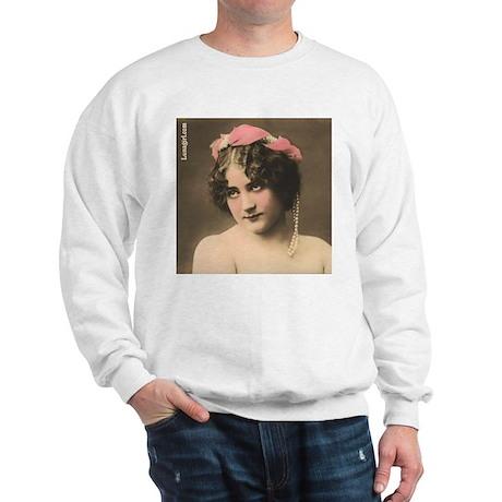 Sweet Risque Woman Vintage Photo Sweatshirt