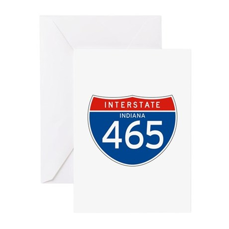 Interstate 465 - IN Greeting Cards (Pk of 10)