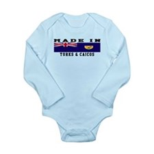 Turks Caicos Made In Long Sleeve Infant Bodysuit